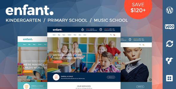 Enfant - School and Kindergarten WordPress Theme by zoutula ...