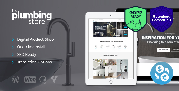 plumbing and building parts tools accessories store wordpress
