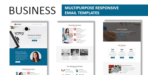 Business multipurpose responsive email template with online business multipurpose responsive email template with online stampready builder access newsletters email templates accmission Images