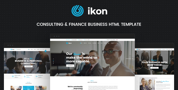 Ikon consulting business html template by themekalia themeforest ikon consulting business html template business corporate wajeb Gallery