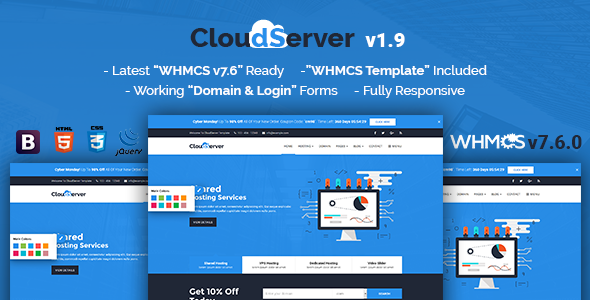 CloudServer | Responsive HTML5 Technology, Web Hosting and WHMCS ...
