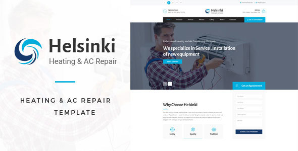 Helsinki heating ac repair html template by tonatheme themeforest helsinki heating ac repair html template business corporate accmission Choice Image