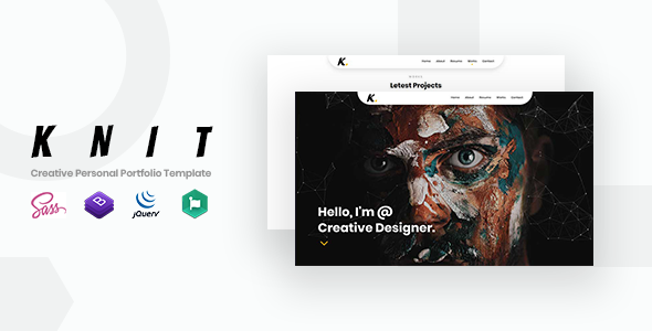 Knit creative personal portfolio template by frozentheme themeforest knit creative personal portfolio template virtual business card personal colourmoves