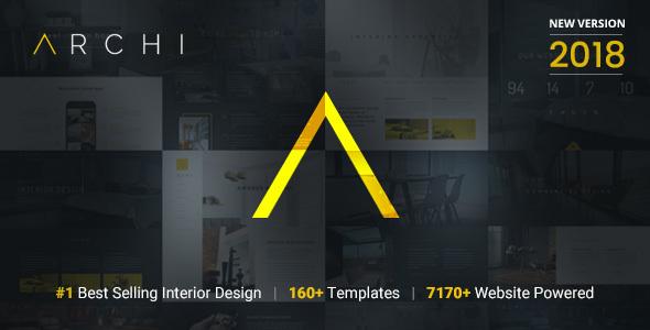Archi Interior Design Website Template By Designesia ThemeForest - Interior design website templates