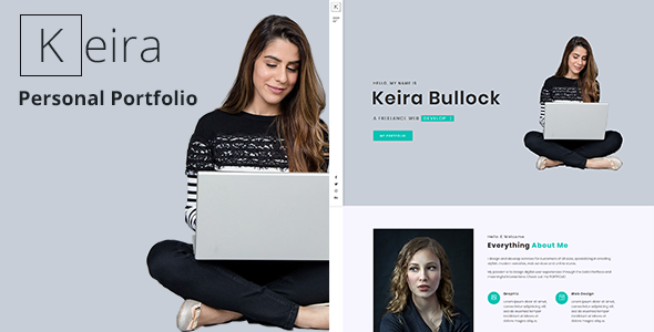 Keira - Bootstrap 4 One Page Personal Portfolio Template by pxdraft