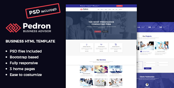 Pedron business consulting html template by lamarena themeforest pedron business consulting html template business corporate wajeb Choice Image