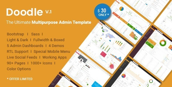 doodle the ultimate multipurpose admin template by hencework