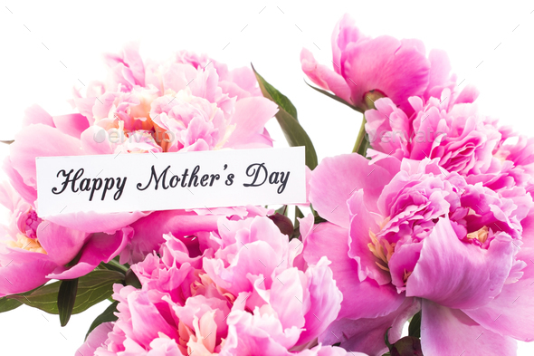 Happy mothers day greeting card with pink peonies stock photo by happy mothers day greeting card with pink peonies stock photo by simonida m4hsunfo