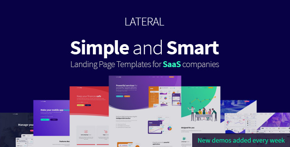 Lateral - Creative SaaS Landing Page Template by SmartTemplates ...