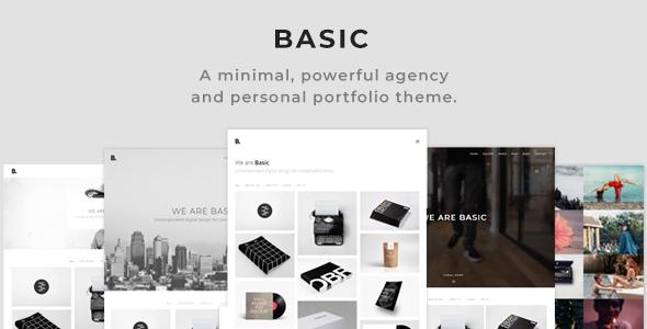 Basic - Minimal Portfolio WordPress Theme by CadenGrant | ThemeForest