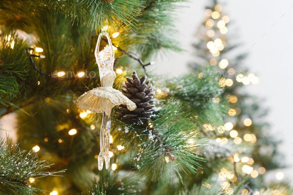Christmas Tree Holiday Background Closeup