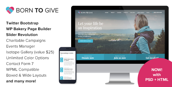 Born To Give - Charity Crowdfunding Responsive WordPress Theme by ...