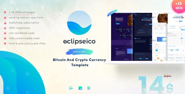 Eclipseico bitcoin and crypto currency html template by perletheme eclipseico bitcoin and crypto currency html template technology site templates maxwellsz