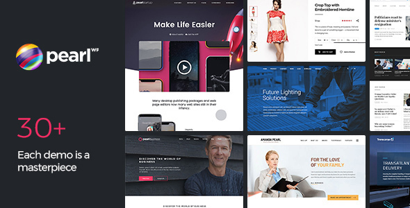 Pearl Business - Corporate Business WordPress Theme for Company and ...