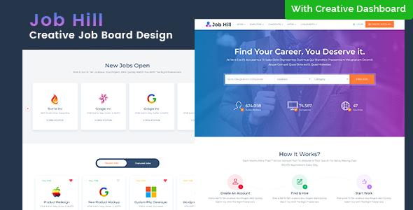 your job html template  JobHill - Job Board HTML Template by themezhub | ThemeForest