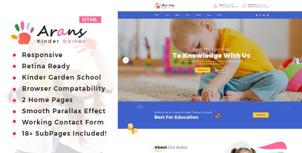Arans - Kindergarten & HTML Template by template_path ... on design your garden, japanese zen garden, designing an office, flower garden,