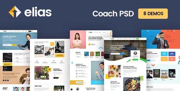 elisa coach psd template yoga coach fitness coach motivation coach health coach etc 8 demos by bcweb themes