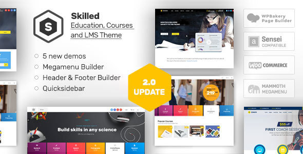 Skilled | School Education Courses WordPress Theme by Aislin ...