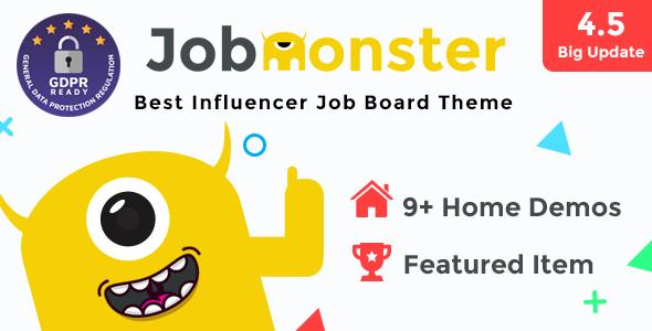 jobmonster job board wordpress theme directory listings corporate