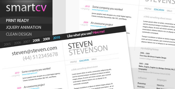 Smart CV - Resume Theme