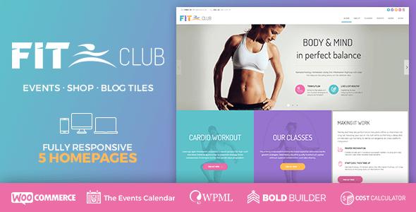 Fitness Club - Health & Fitness WordPress Theme by BoldThemes ...