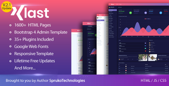 KLAST – Bootstrap 4 HTML5 Admin Dashboard Responsive Template by ...