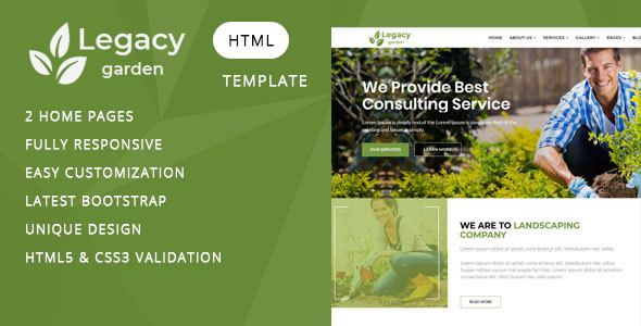 Legacy - Garden and Landscape Company HTML Template by Themelab15 ...