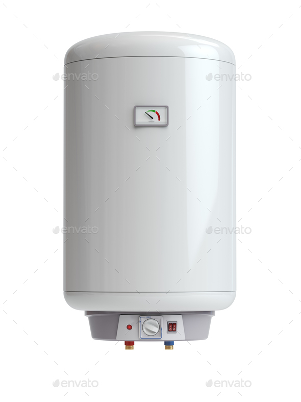 Electric boiler, water heater isolated on white background. Stock ...