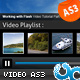 Ultimate Resizable Video Player with Playlist AS3