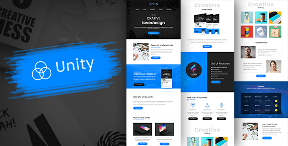 unity multipurpose responsive business email template builder newsletters email templates