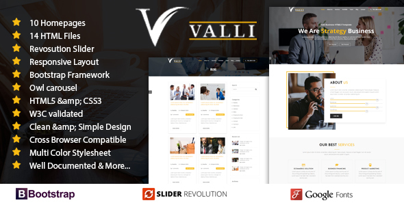 Valli corporate and business one page responsive html template by valli corporate and business one page responsive html template business corporate friedricerecipe Image collections
