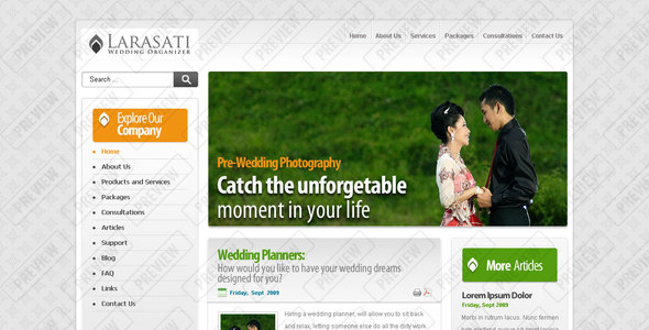 Larasati Wedding by vandenito | ThemeForest