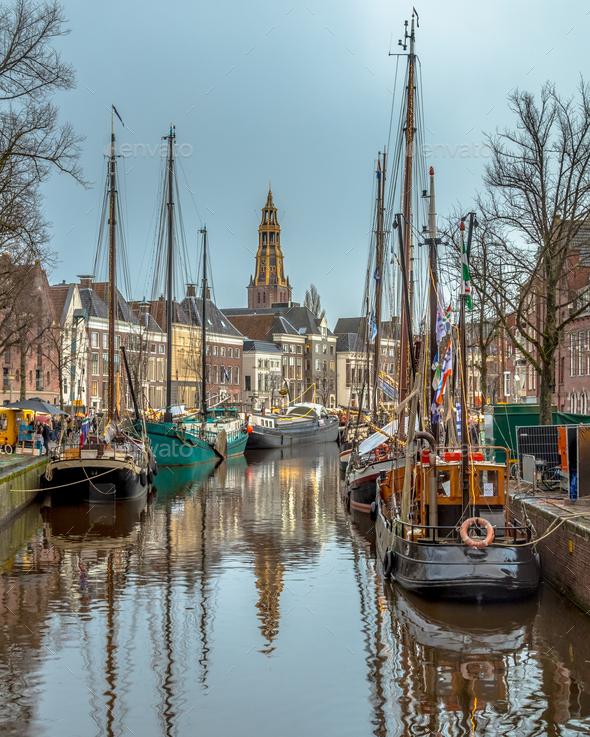 view historic sailing ships groningen stock photo by creativenature nl