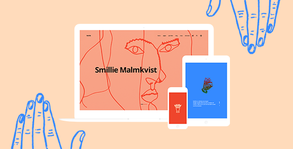 smiltė simple portfolio wordpress theme by edge themes themeforest