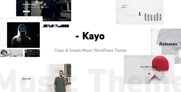 kayo clean and simple music wordpress theme by wolf themes