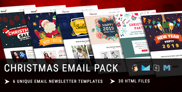 christmas new year responsive email template with mailchimp editor online stampready builder acc