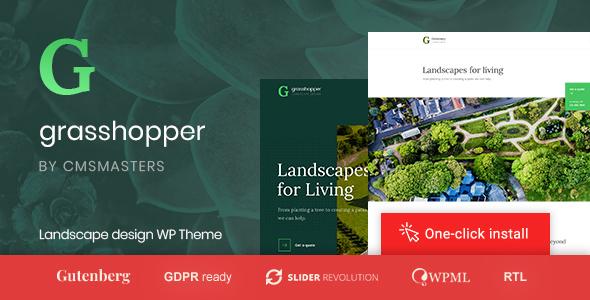 Grasshopper - Landscape Design and Gardening Services WP Theme - Business  Corporate - Grasshopper - Landscape Design And Gardening Services WP Theme By