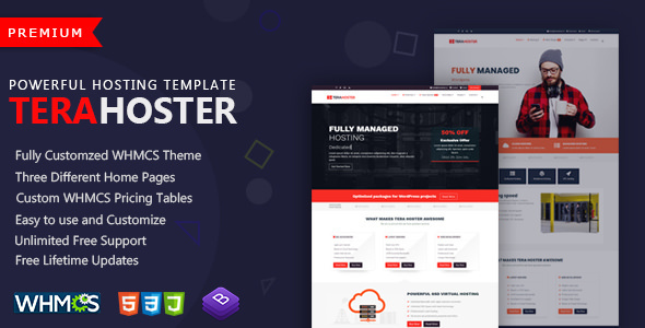 terahoster professional hosting template with whmcs by themekolor