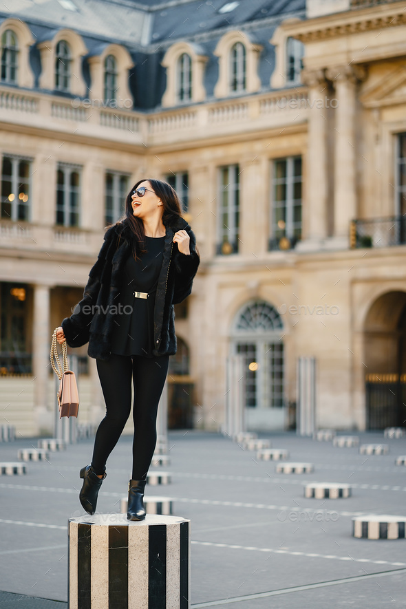 Girl Exploring Paris France By Herself Stock Photo Images