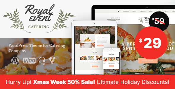 royal event event planner catering company wordpress theme by