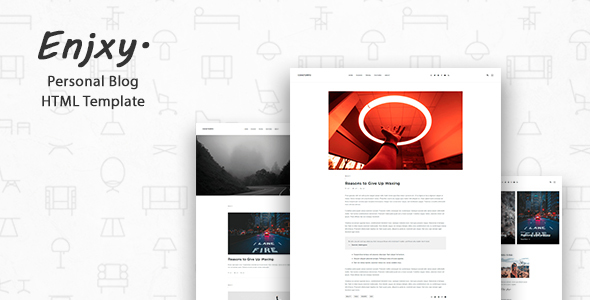 enjxy modern creative blog template by codeforeveryone