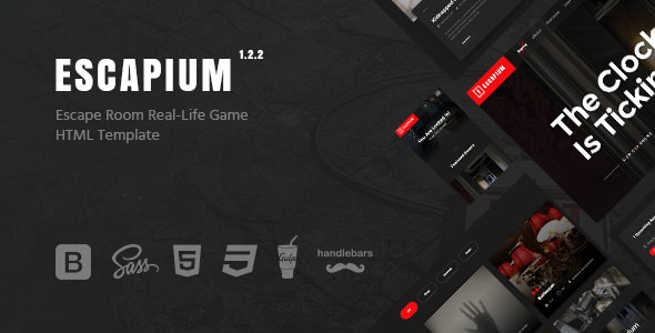 escapium escape room game html template by dan fisher themeforest