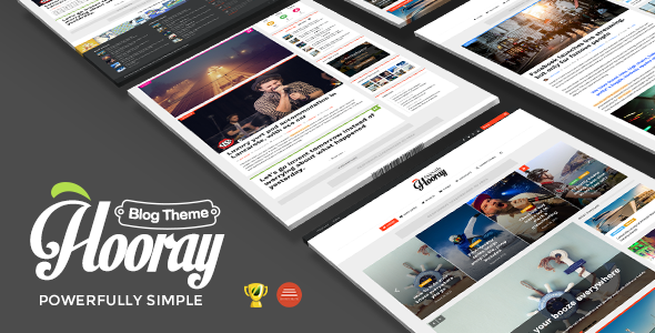 hooray blog wordpress theme for professional writers by bdaia