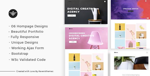 avax creative portfolio landing page by raventhemez themeforest