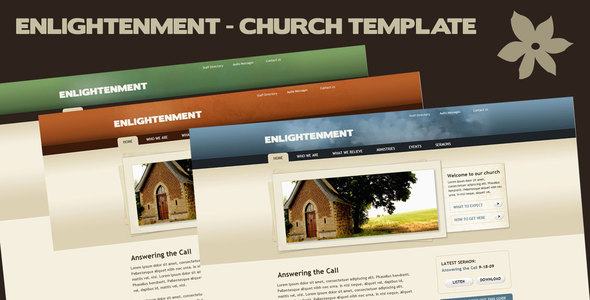 ThemeForest - Enlightenment Church Site Template - RIP