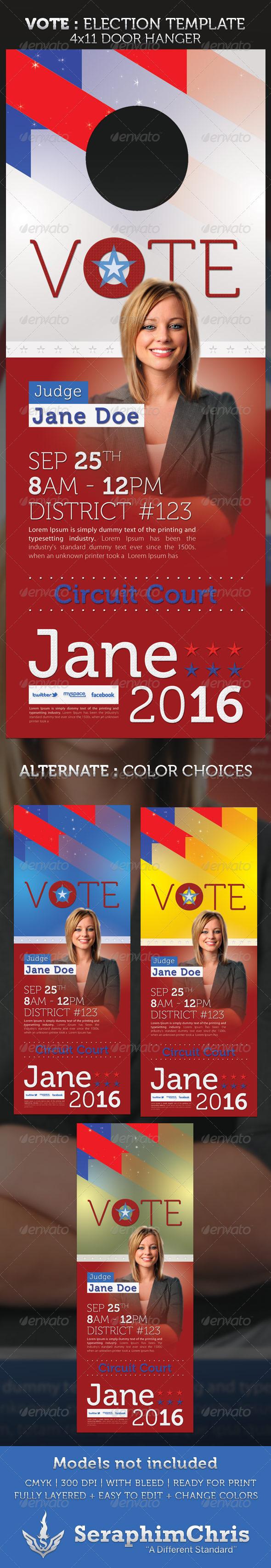 Vote poster template for microsoft
