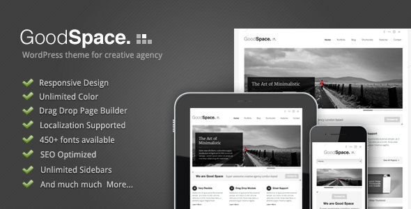 Good Space - Responsive Minimal WP Theme by GoodLayers | ThemeForest