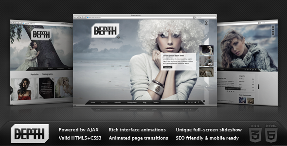 depth html full screen ajax portfolio by dream theme themeforest. Black Bedroom Furniture Sets. Home Design Ideas