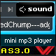 As3 dynamic xml mp3 mini player