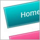 Colorful Squired Navigations with XHTML/CSS